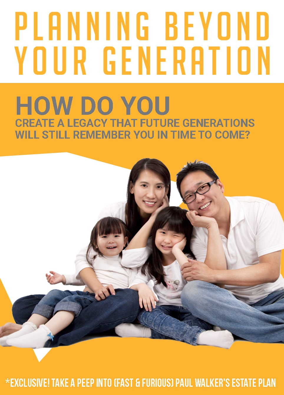 Planning Beyond Your Generation